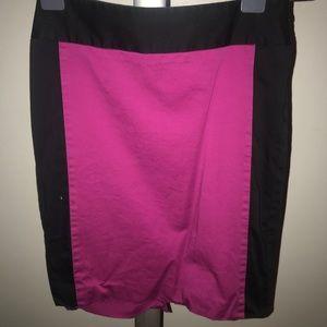 The Limited Fuchsia & Black Pencil Skirt